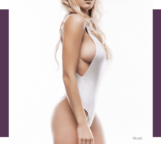 Fit Woman in White Bathing Suit